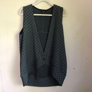 ComfyUSA Lagenlook Slate Gray Textured Vest